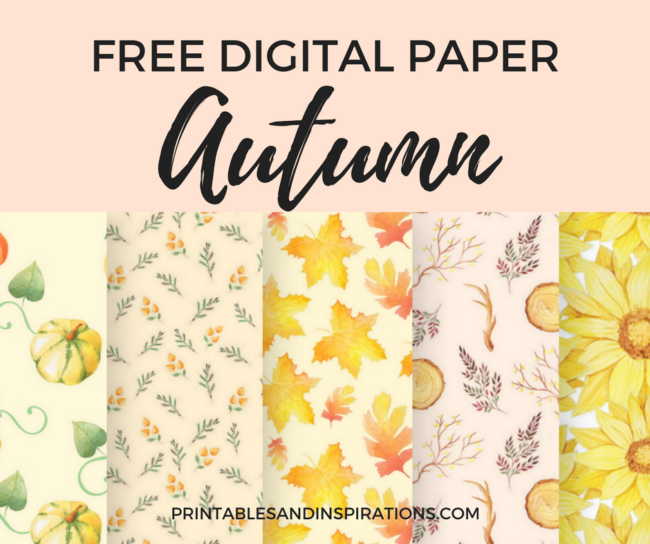 FREE PRINTABLE AUTUMN DIGITAL PAPER FOR SCRAPBOOKING OR DIGITAL BACKGROUND