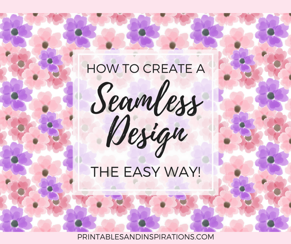 Seamless pattern, seamless design, Canva tutorial, digital paper, free printables, floral pattern