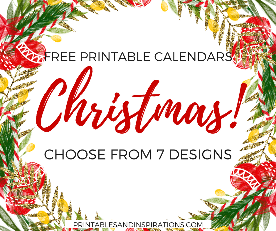 Calendar Holiday Clip Art : Free christmas calendars to start your holiday cheer