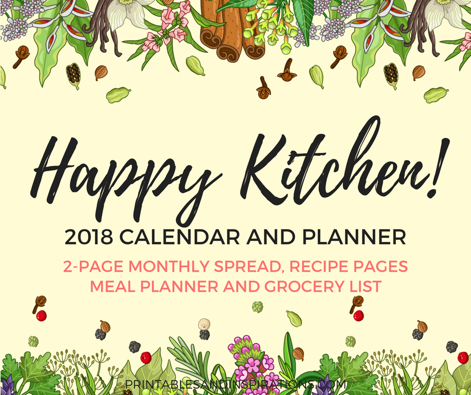 Happy With Printables Calendar November : Happy kitchen calendar and planner free printables