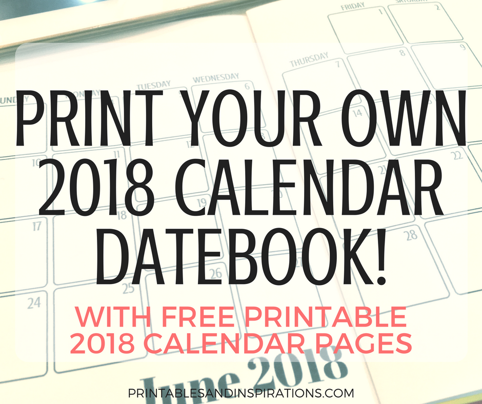 Print your own calendar with photos arts arts for Create your own planner online