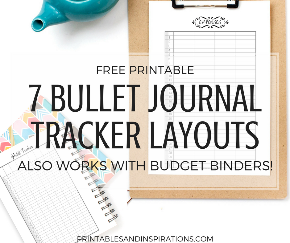 Free Printable Bullet Journal Tracker Layouts - Printables