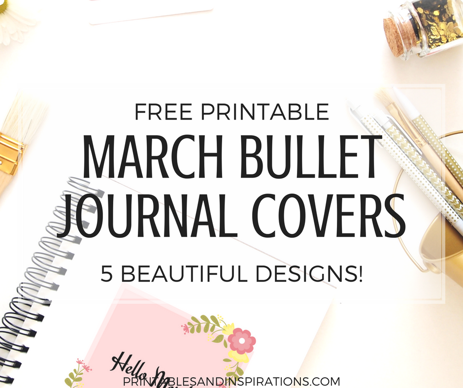 free printable march bullet journal cover page bullet journal ideas printable planner march