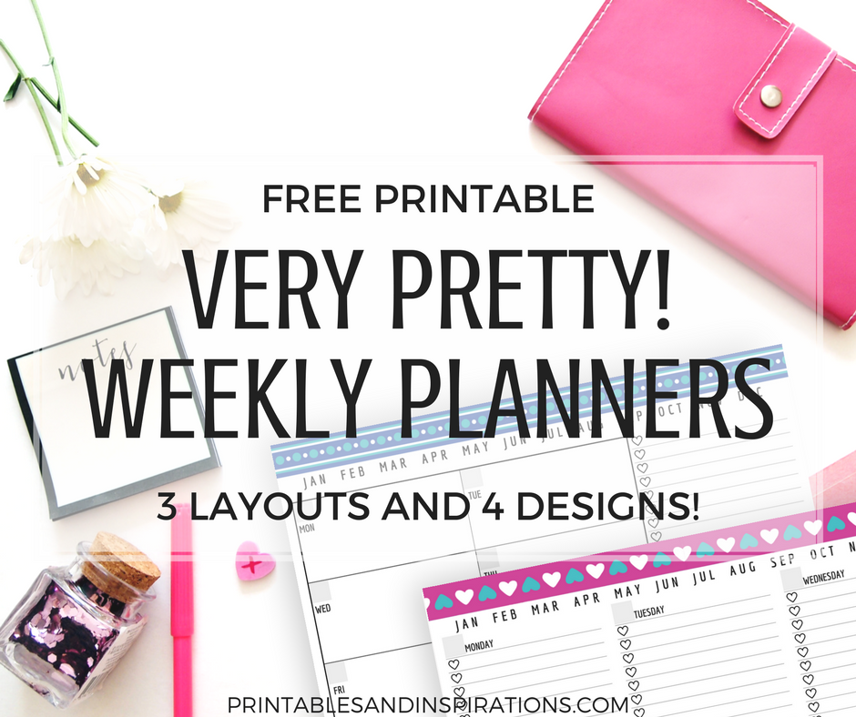 Pretty Weekly Planner Printables - Free Download