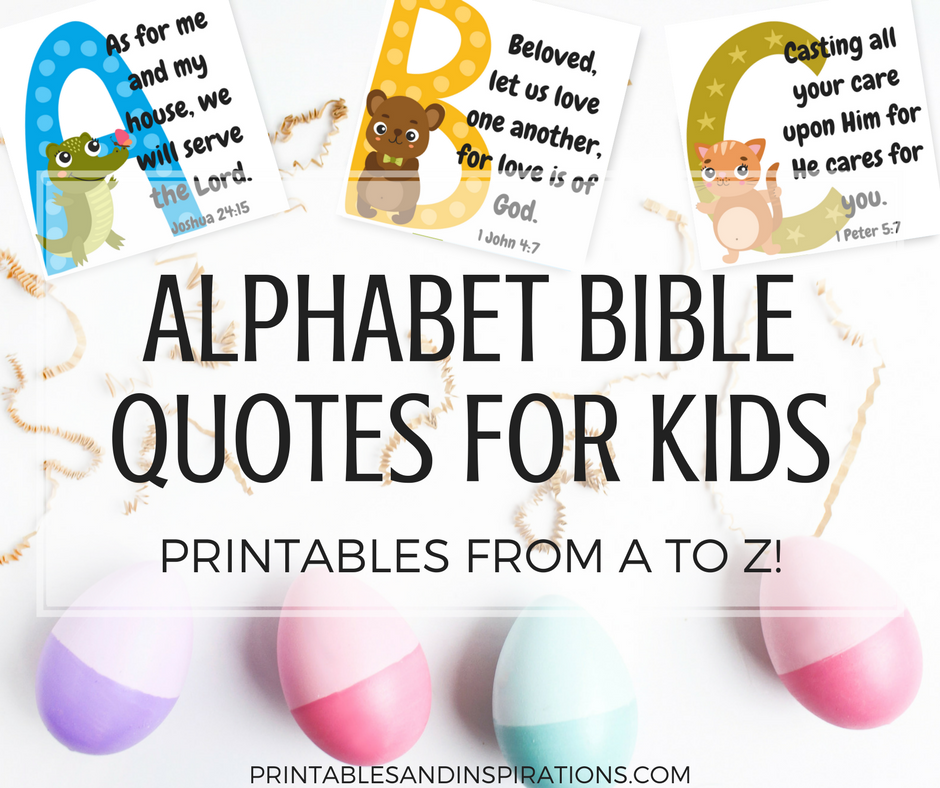 Free Printable Alphabet Memory Verses For Kids! (Bible