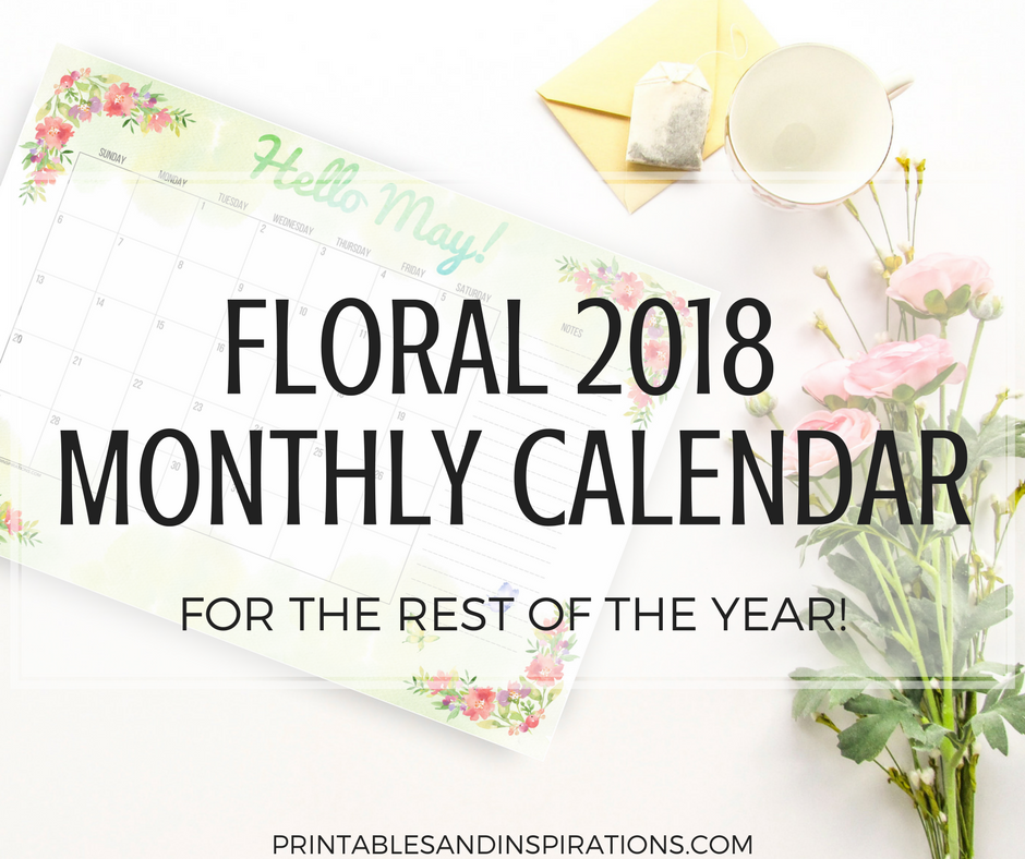Rest Of Year Calendar : Monthly calendar for the rest of year free