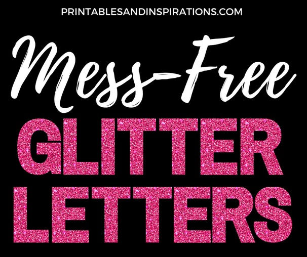 FREE PRINTABLE GLITTER LETTERS