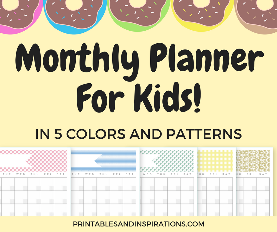 Free Printable Monthly Planner For Kids And Adults Printables