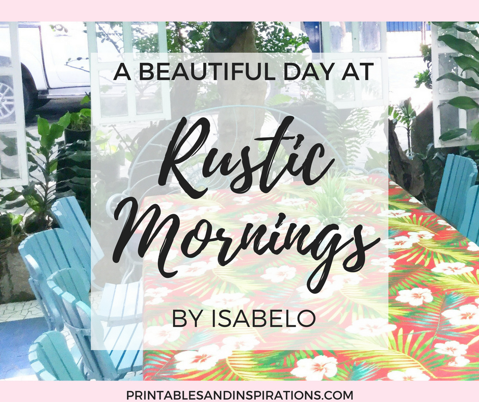 Pretty interior design at Rustic Mornings Restaurant in Manila