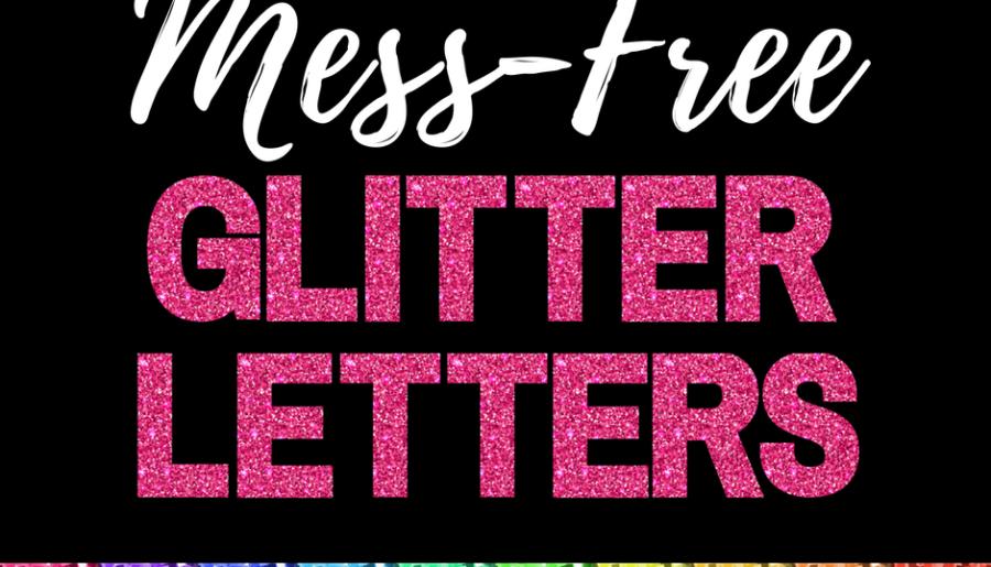 FREE PRINTABLE GLITTER LETTERS PLUS FREE DIGITAL PAPER