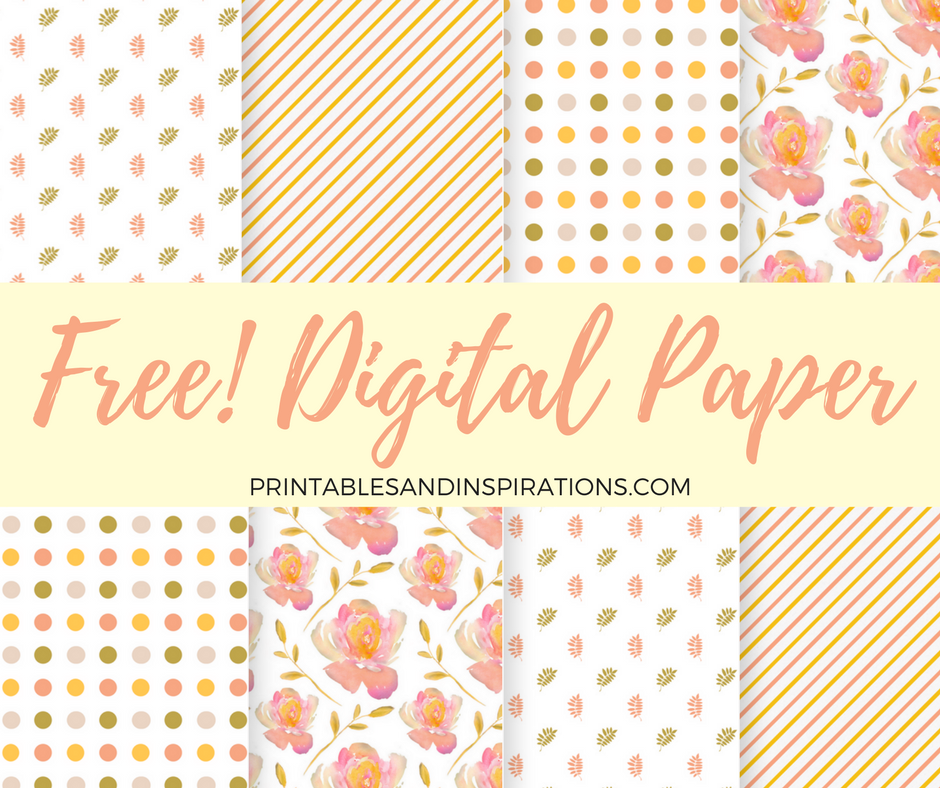 free scrapbooking | free digital paper | floral pattern | autumn colors
