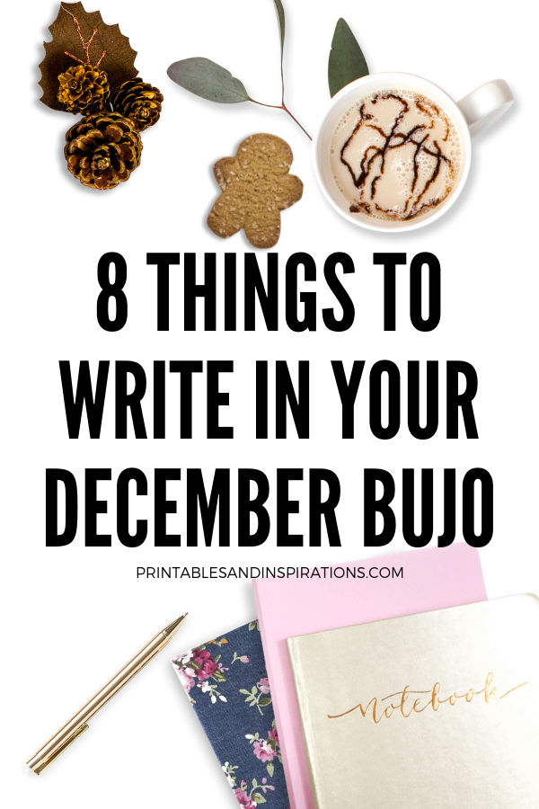 December Bullet Journal Ideas For Christmas And Year End Reflection! Read for more inspiration and free printables. #printablesandinspiration #bulletjournal #bujoideas
