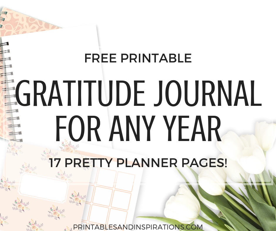 Free Gratitude Journal Planner Plus Calendar Template Printables And Inspirations