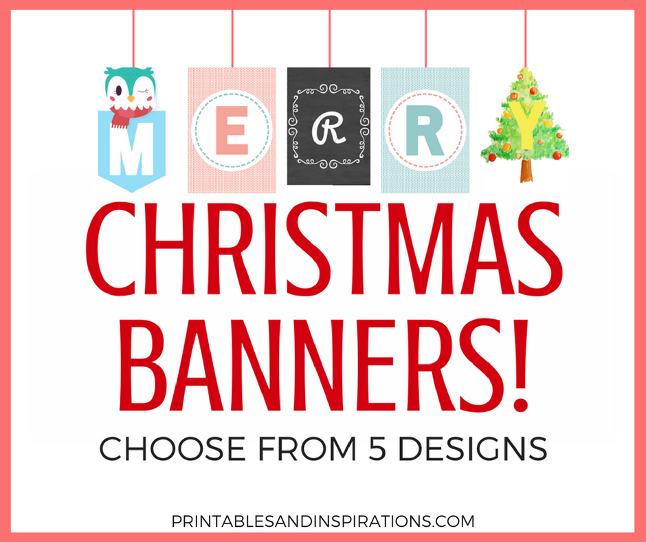 christmas banner free printable christmas decorations and christmas ideas