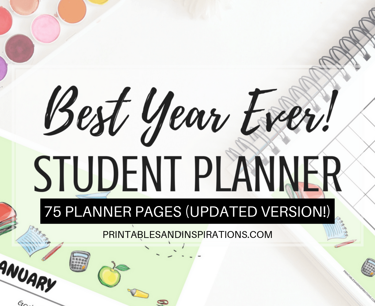 photograph about Free Binder Printables named Cost-free Pupil Planner Printable Binder For 2019 - 2020