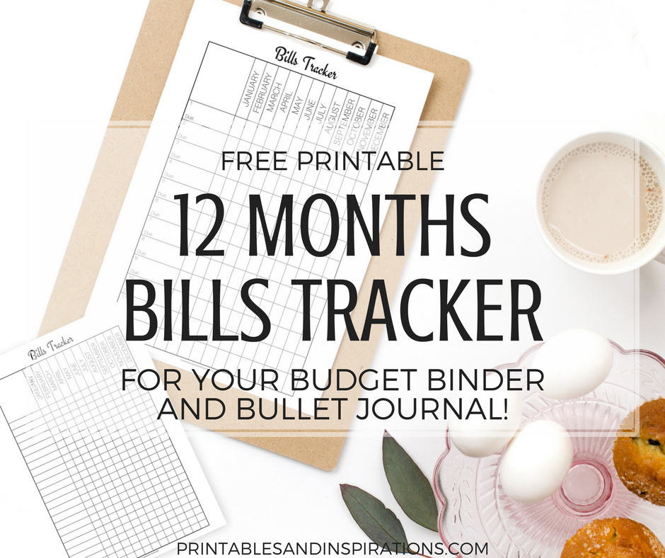 graphic about Printable Bill Tracker named Cost-free Printable Every month Payments Tracker! - Printables and