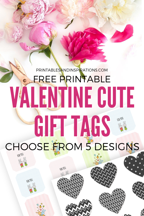 photo relating to Cute Gift Tags Printable identified as Cost-free Printable Valentines Working day Present Tags - Lovable Ideas