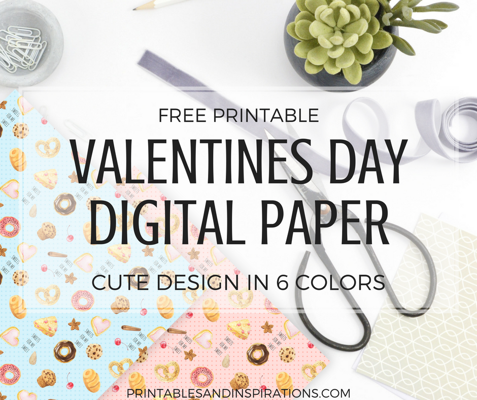 free printable valentines day crafts digital paper for scrapbooking, valentines gift ideas, valentines day decor, bakery design