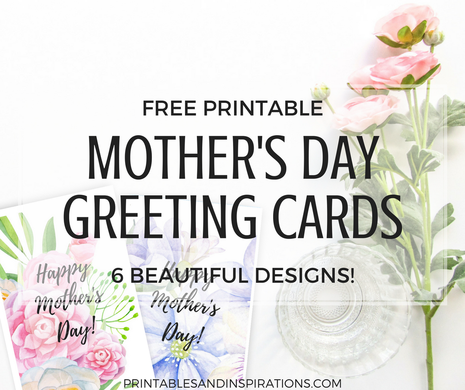 Free Printable Mothers Day Cards With Beautiful Flowers