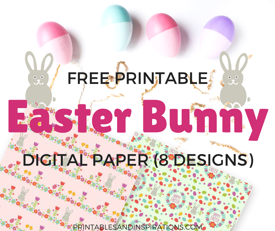 image relating to Printable Easter Decorations called Free of charge Printable Easter Bunny Electronic Paper! - Printables and