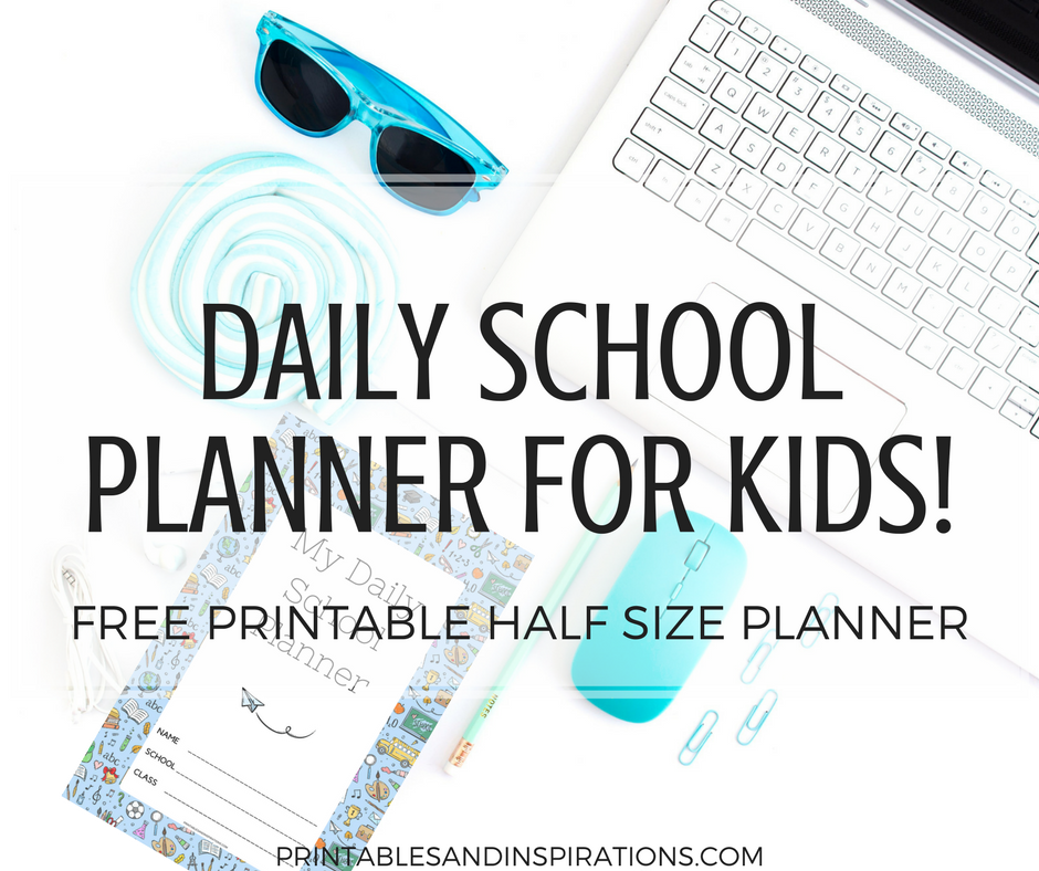 daily school planner for kids free printable printables and