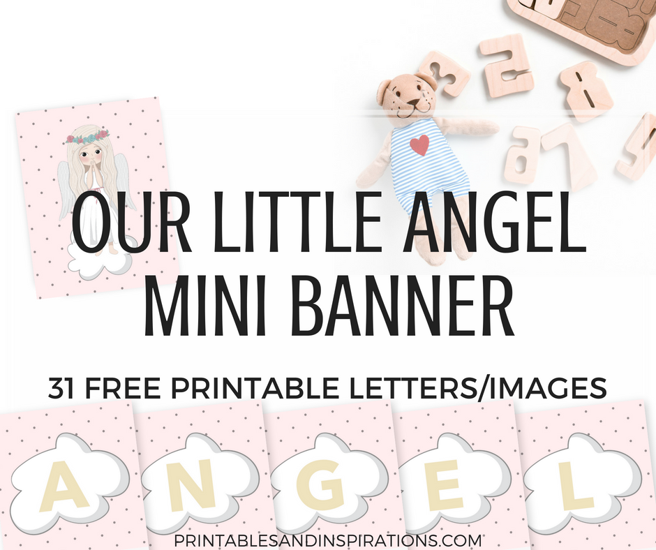photograph relating to Free Printable Banner called Angel Printable Letters For Do-it-yourself Banner Mini - Printables and