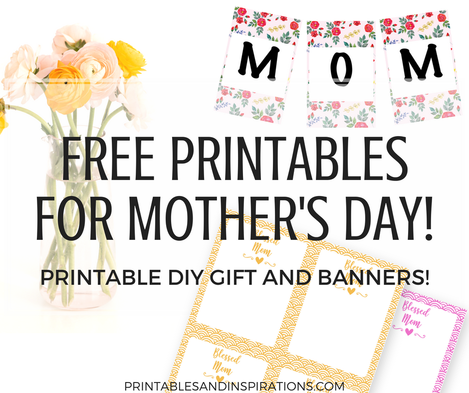picture about Happy Mothers Day Printable named Do it yourself Moms Working day Present And Floral Banners! Absolutely free Printables
