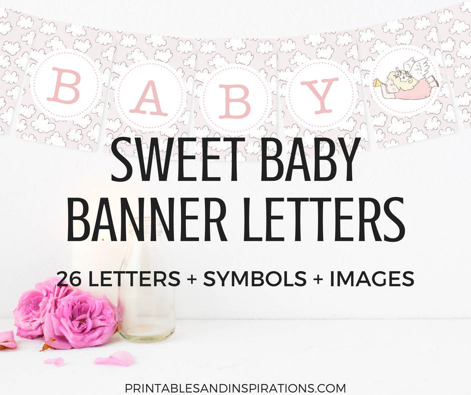 photograph relating to Free Printable Letters for Banners named Cost-free Printable Boy or girl Shower Decorations Banner Letters