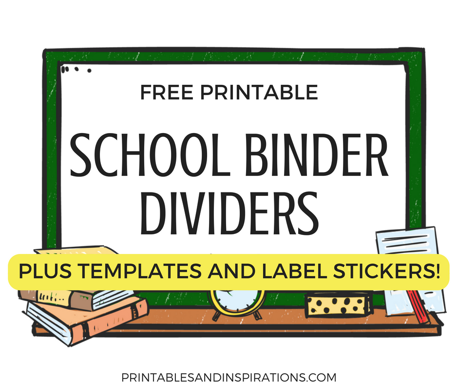 picture regarding Free Printable Organizing Labels called Totally free Printable College Binder Dividers And Adorable Label