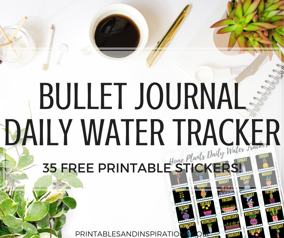 photo about Printable Water Tracker called No cost Drinking water Tracker Planner Stickers For Your Bullet Magazine