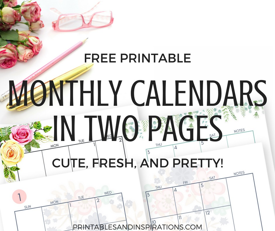 photo about Pretty Calendars named 2019 Regular monthly Calendar 2 Webpage Distribute - Cost-free Printable
