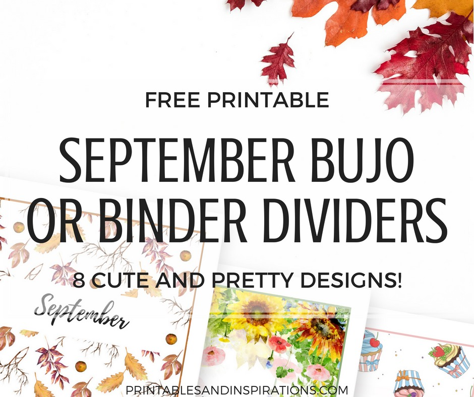 photo about Printable Dividers for Binders titled Totally free September Binder Go over (Bullet Magazine Themes