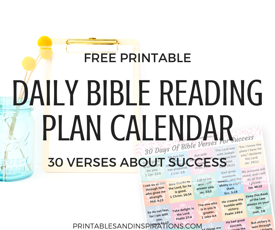 Free Daily Bible Reading Plan Calendar - Printables and