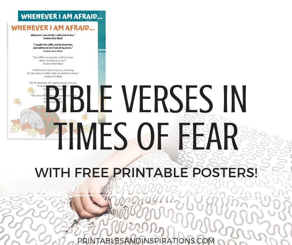 graphic regarding Printable Posters named Bible Verses Above Worry and Gods Safety - No cost Posters