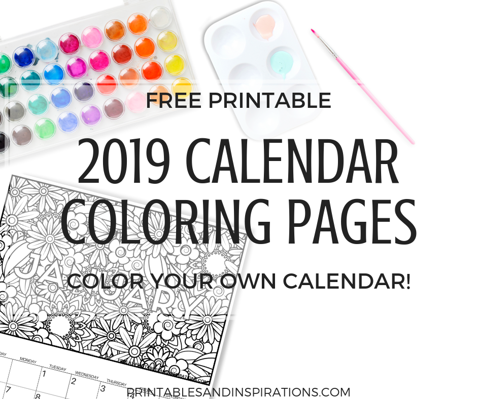 free calendar coloring pages for 2019 get this free printable monthly planner and color your