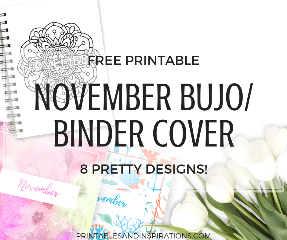 november bullet journal cover page printable printables and