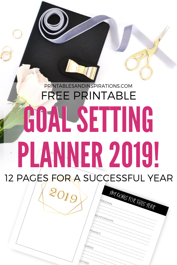 photo about Free Printable Goal Sheets titled Cost-free Function Surroundings Printable Planner For 2019! - Printables