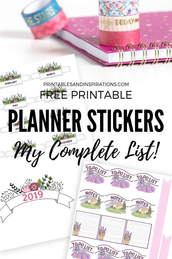 picture about Free Planner Sticker Printables known as Absolutely free Planner Stickers For Your Bullet Magazine - Printables
