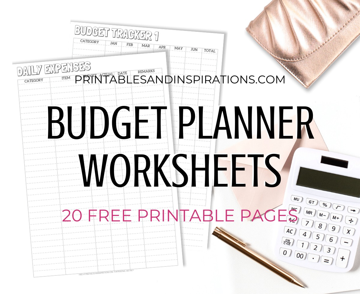 Budget Planner Worksheets 20 Free Printables Printables And Inspirations