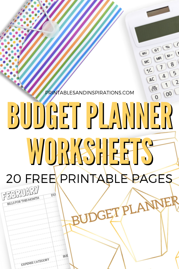 photograph relating to Budget Printables Free referred to as Spending budget Planner Worksheets - 20 No cost Printables! - Printables