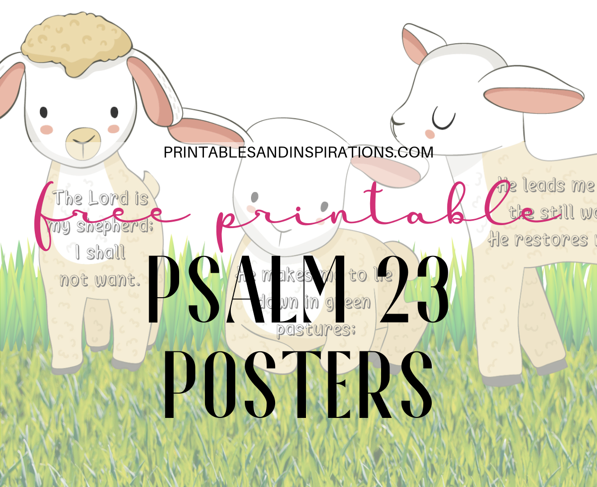 image regarding Psalm 23 Printable referred to as No cost Printable Psalm 23 Poster / Banner - Printables and