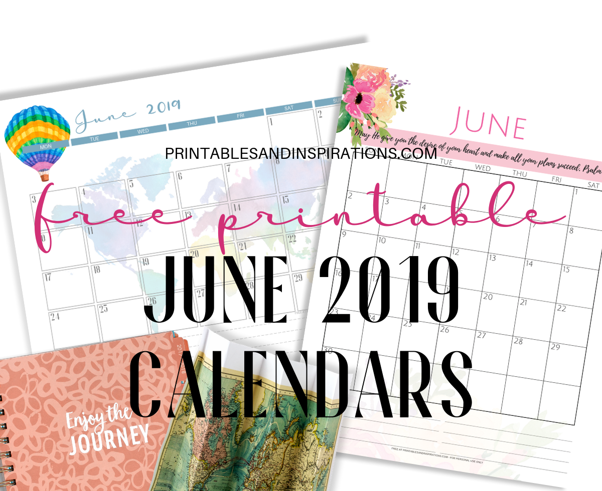 graphic about Printable June identify No cost June 2019 Calendar Printable PDF - Printables and