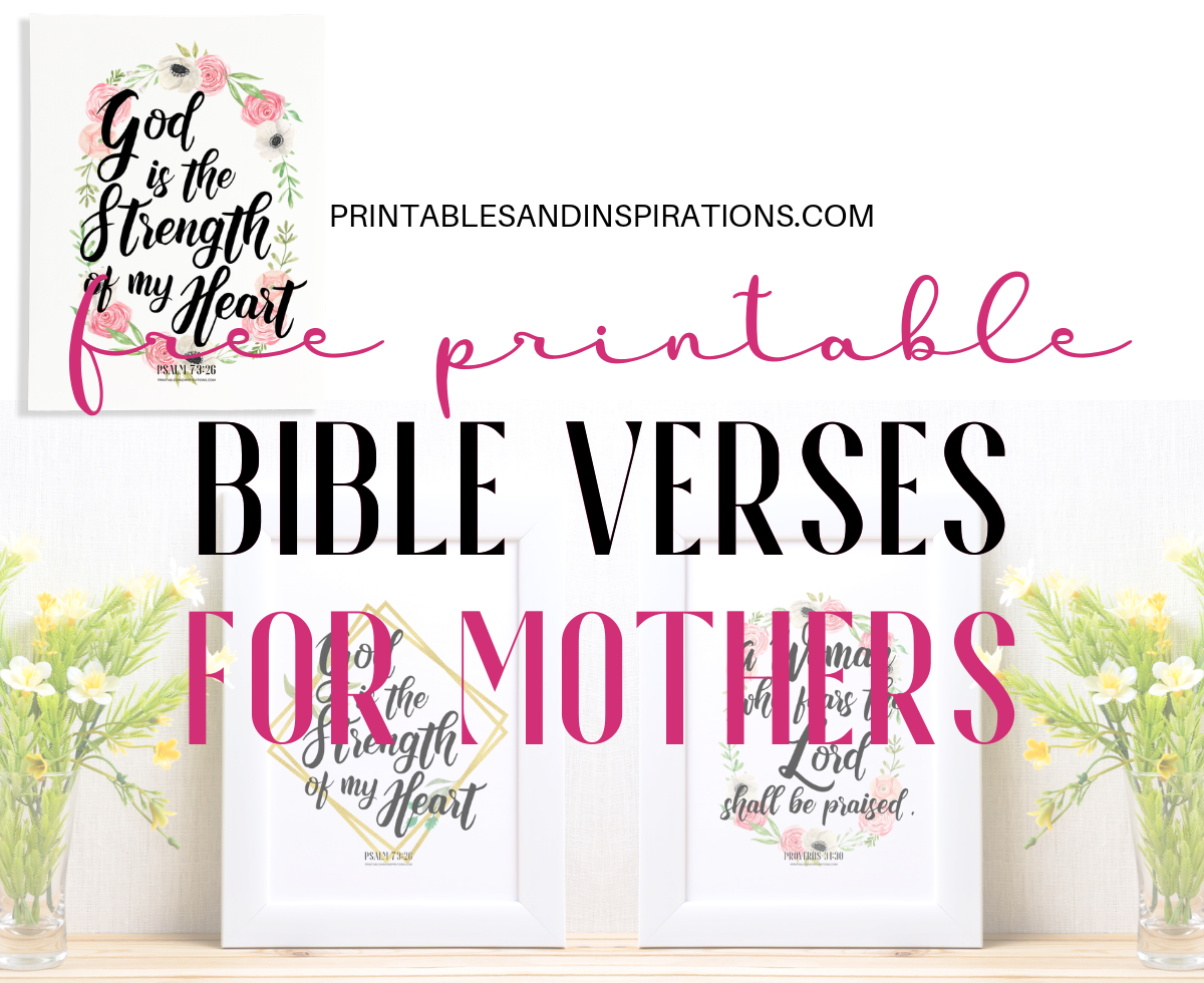 graphic regarding Free Printable Bible Verses named Bible Verses For Moms - No cost Printable! - Printables and