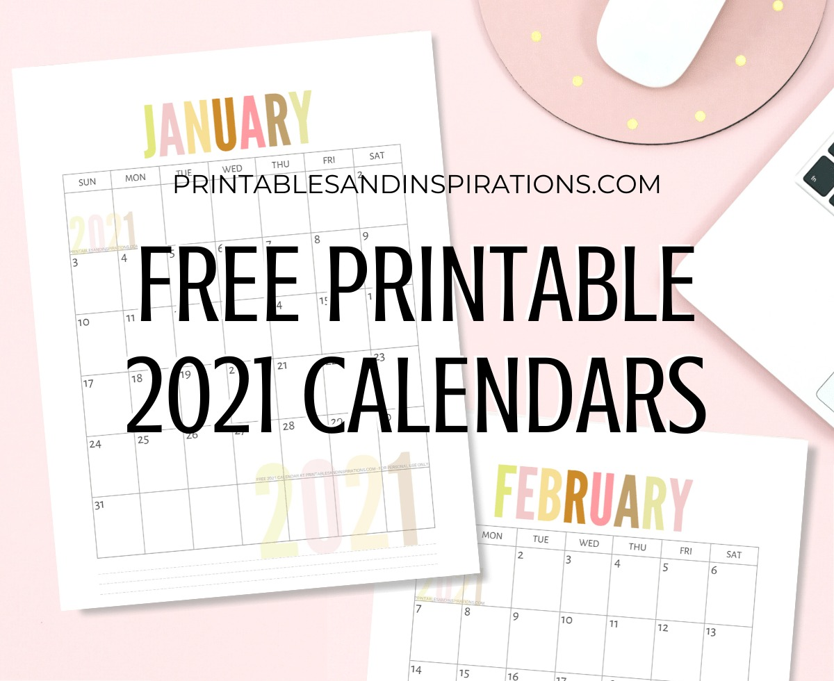 List Of Free Printable 2021 Calendar PDF   Printables and Inspirations