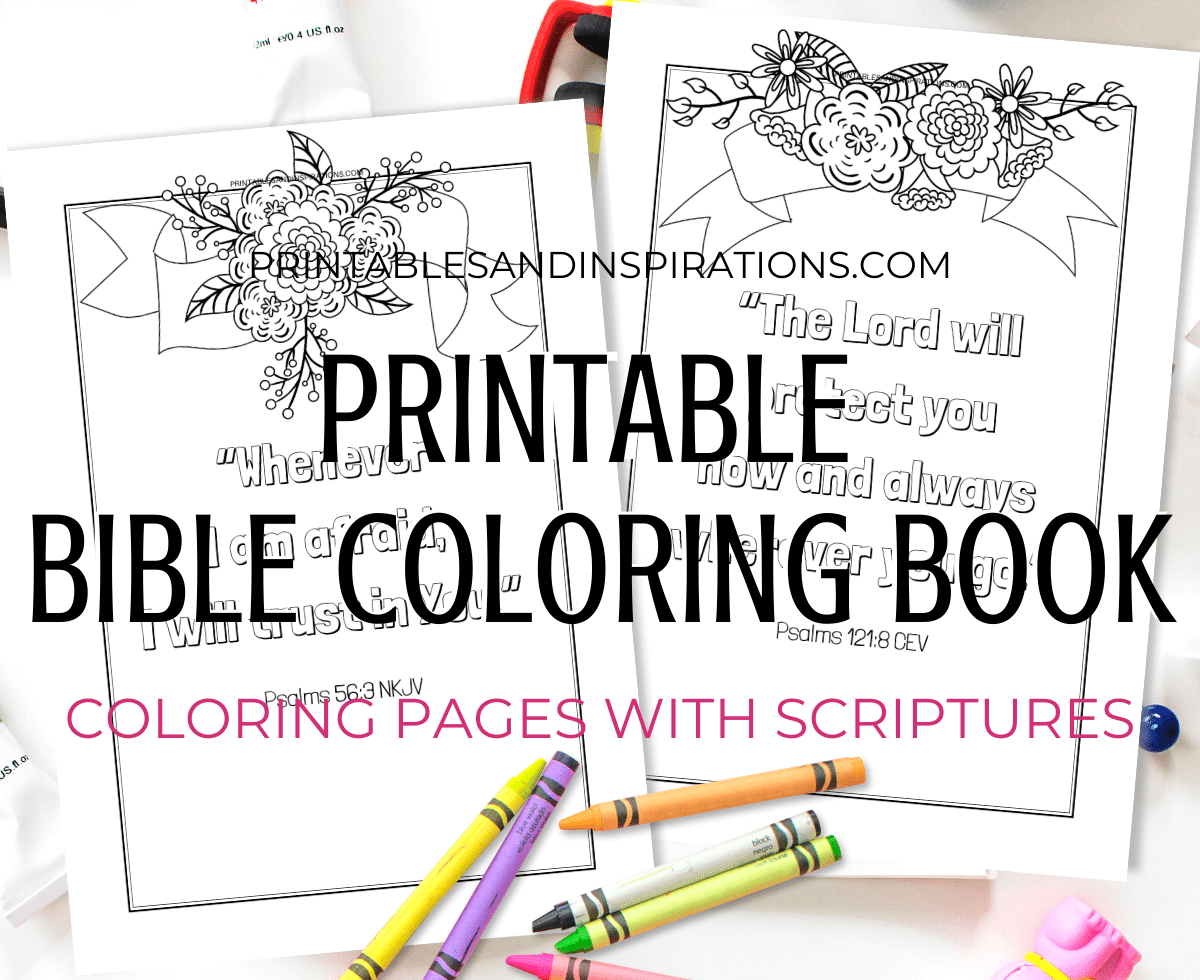 - Free Printable Bible Verse Coloring Book Pages - Printables And