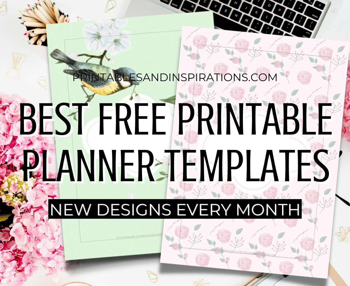Best Free Printable Planners Templates - Bullet Journal Printables - free PDF download, monthly planner and weekly planner #freeprintable #printablesandinspirations #planneraddict #bulletjournal #journaling