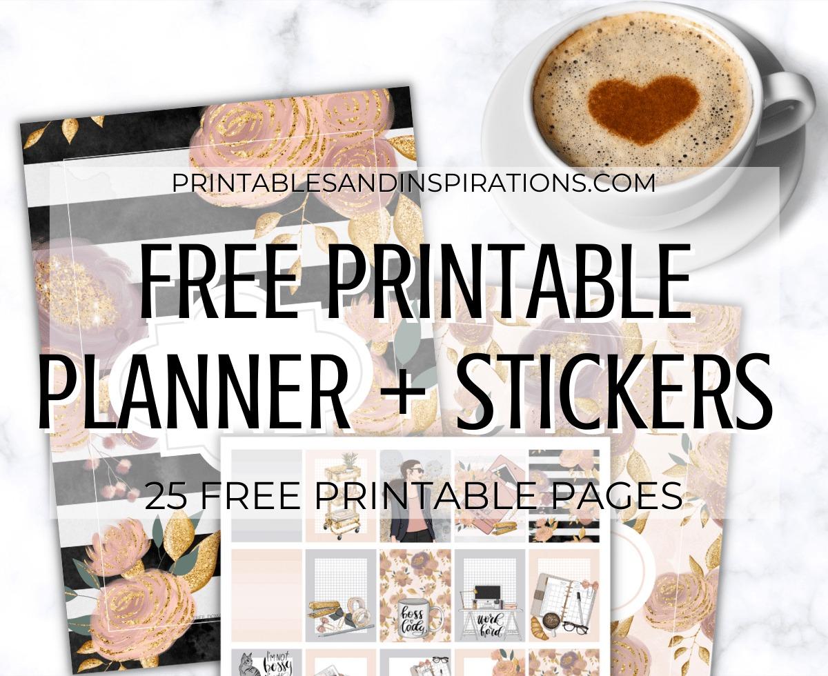 Free Printable Bullet Journal And Planner Stickers - Boss Lady Printable Planner Template #printablesandinspirations #bulletjournal #planneraddict #freeprintable
